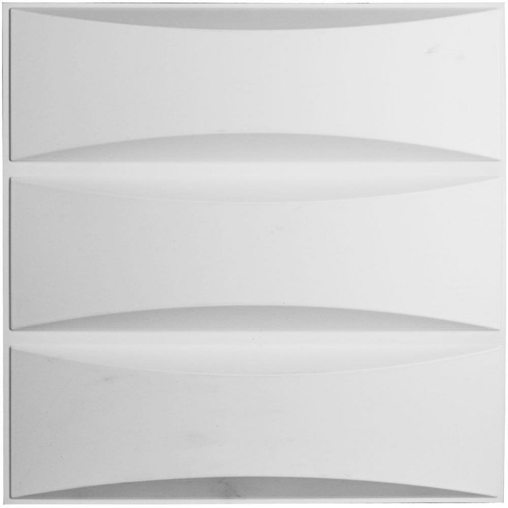 1-1/16 in. x 19-5/8 in. x 19-5/8 in. PVC White Traditional
