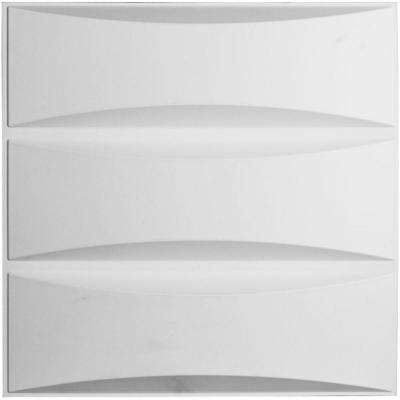 1-1/16 in. x 19-5/8 in. x 19-5/8 in. PVC White Traditional EnduraWall Decorative 3D Wall Panel
