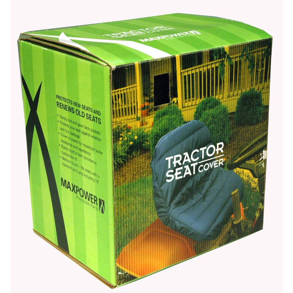 Tractor Seat Storage : Maxpower black deluxe tractor seat cover with back pockets