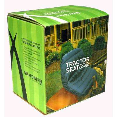 Black Deluxe Tractor Seat Cover with Back Pockets for Storage