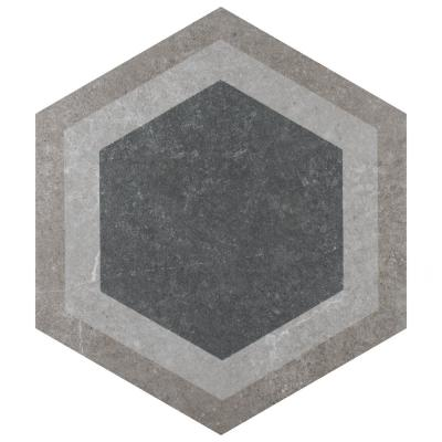 Traffic Hex Combi Grey 8-5/8 in. x 9-7/8 in. Porcelain Floor and Wall Tile (11.56 sq. ft. / case)