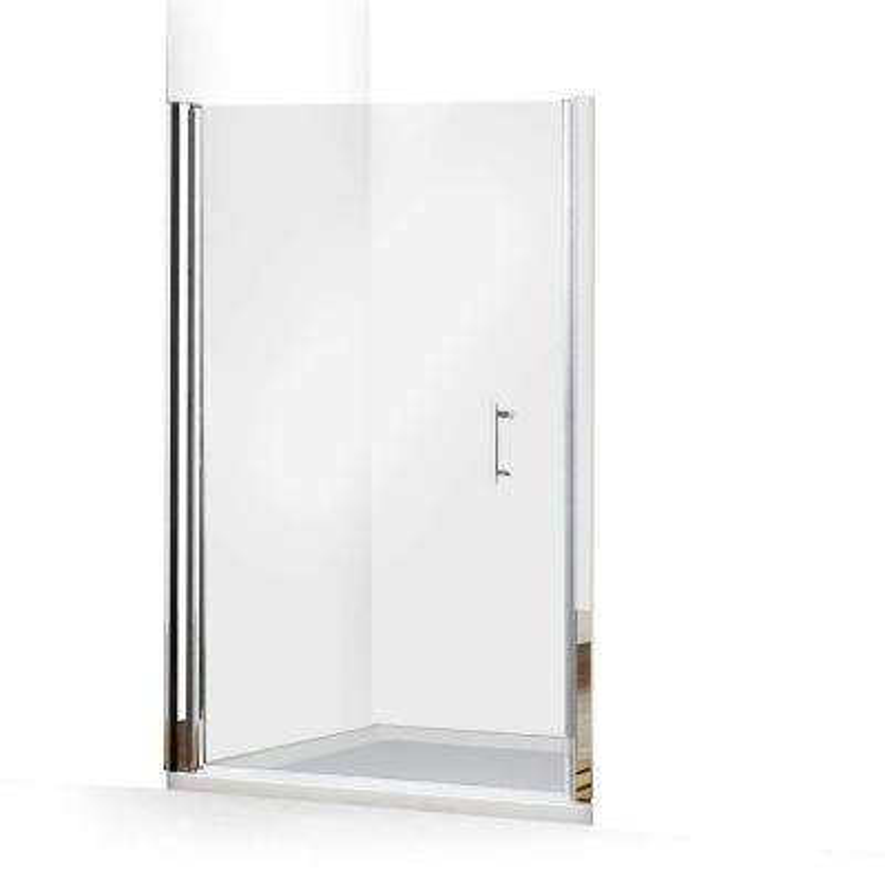 Clear Semi Frameless Pivot Hinged Alcove Shower