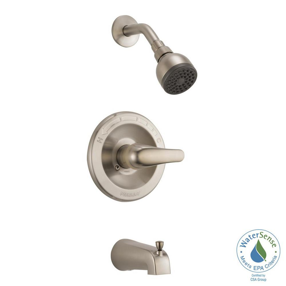 Ordinaire Peerless 1 Handle Tub And Shower Faucet Trim Kit In Brushed Nickel (Valve  Not