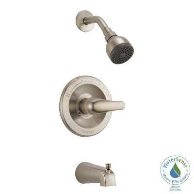 1-Handle Tub and Shower Faucet Trim Kit in Brushed Nickel (Valve Not Included)