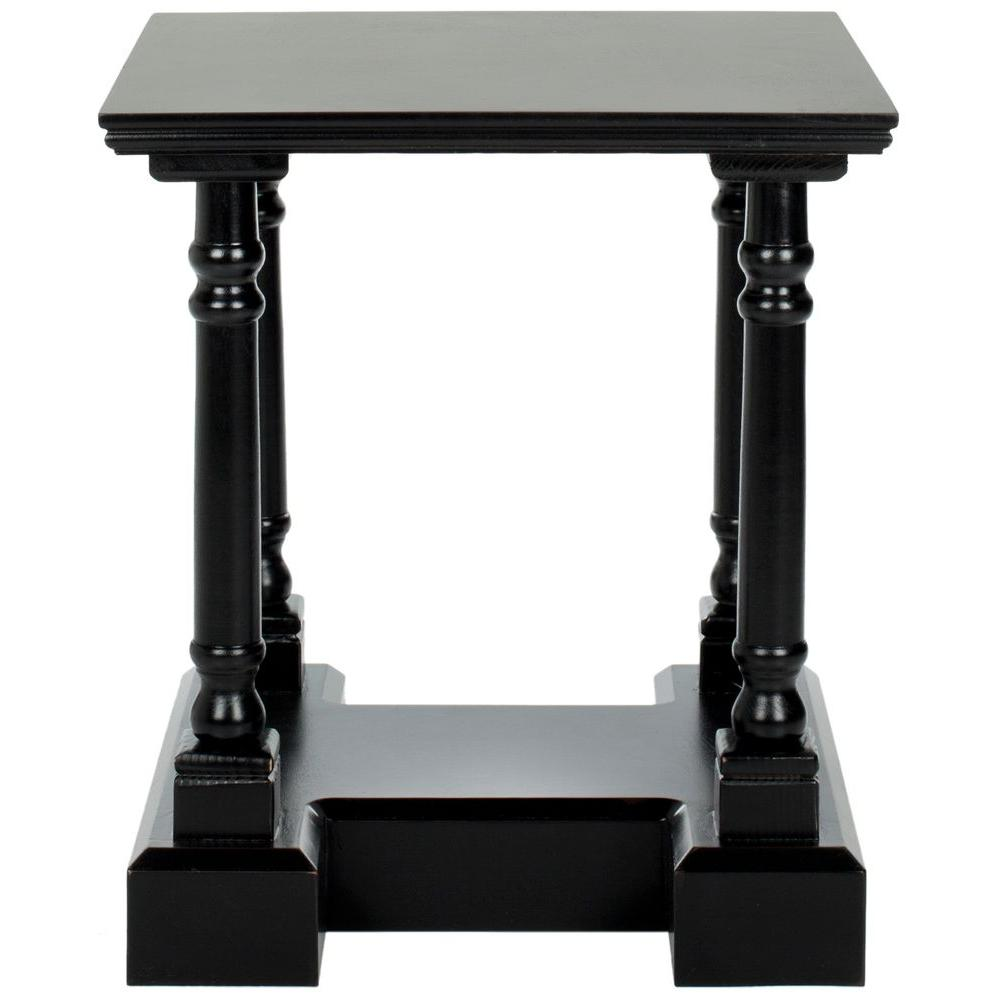 Safavieh Endora Distressed Black Storage End Table