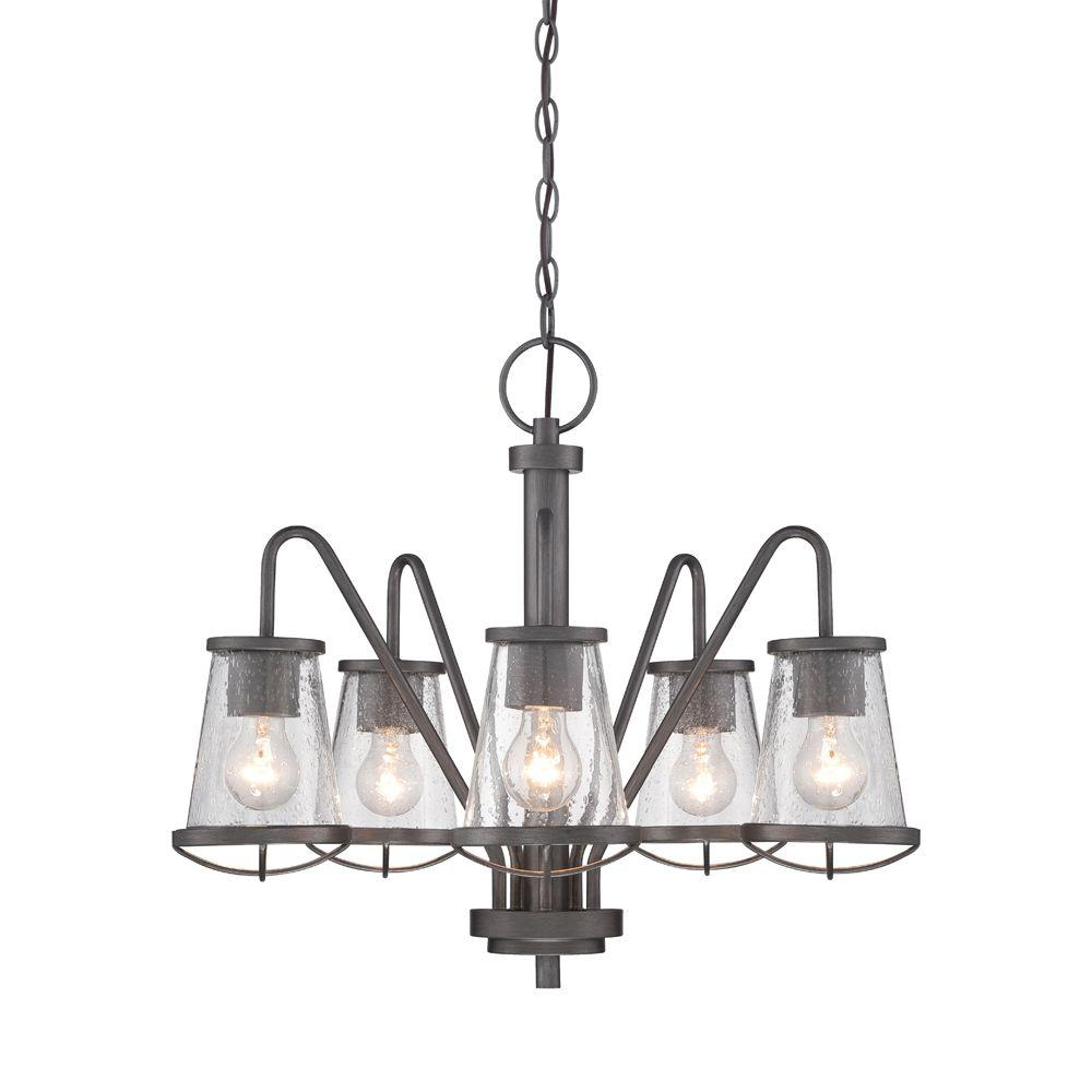 Darby 5-Light Weathered Iron Chandelier