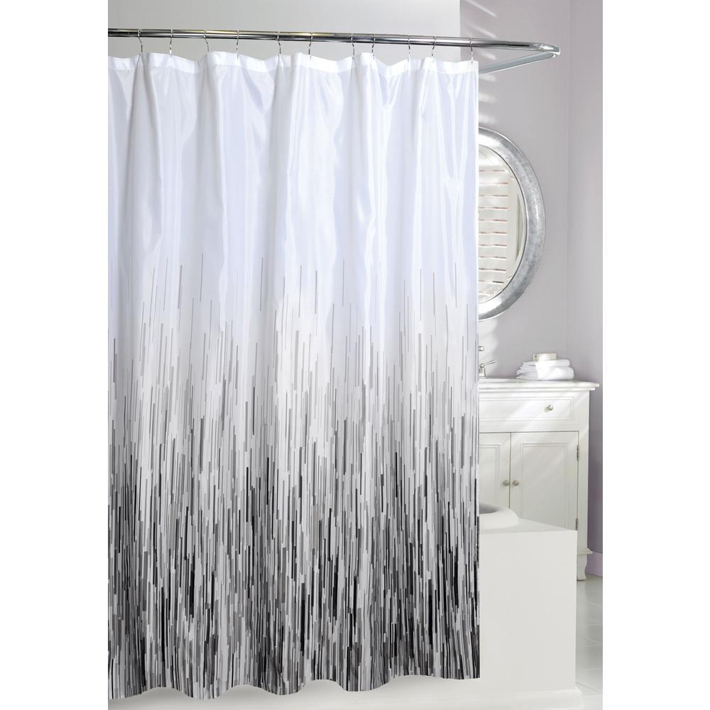 Greyscale Shower Curtain
