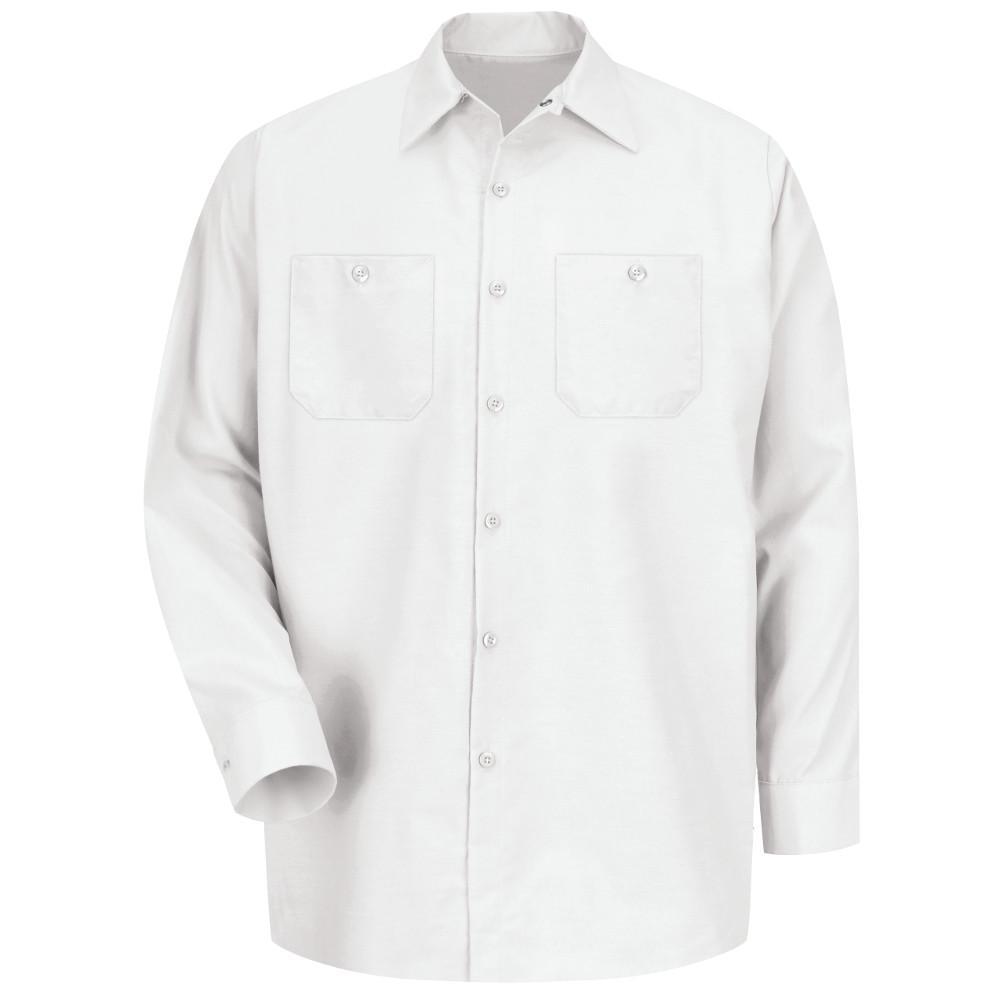 Men's Size 2XL (Tall) White Industrial Work Shirt