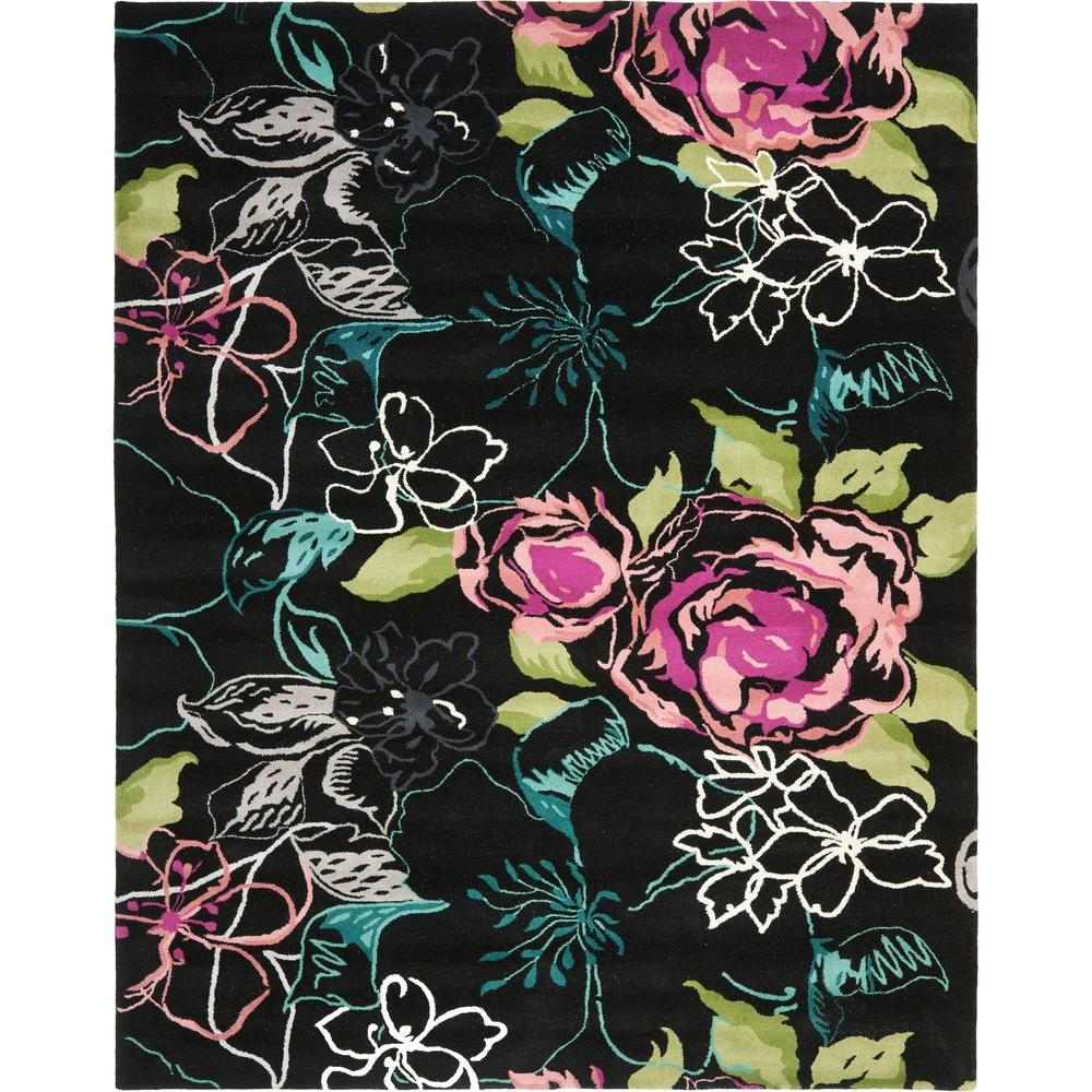 Wyndham Black/Multi 8 ft. x 10 ft. Area Rug