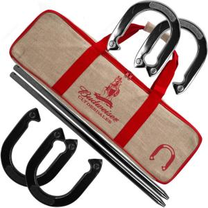 Outdoor Horseshoe Game Set with Carrying Bag