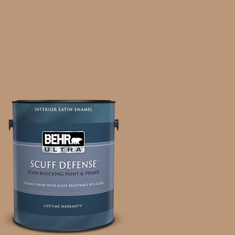 Behr Ultra 1 Gal N250 4 Artisan Crafts Extra Durable Satin Enamel Interior Paint Primer 775401 The Home Depot