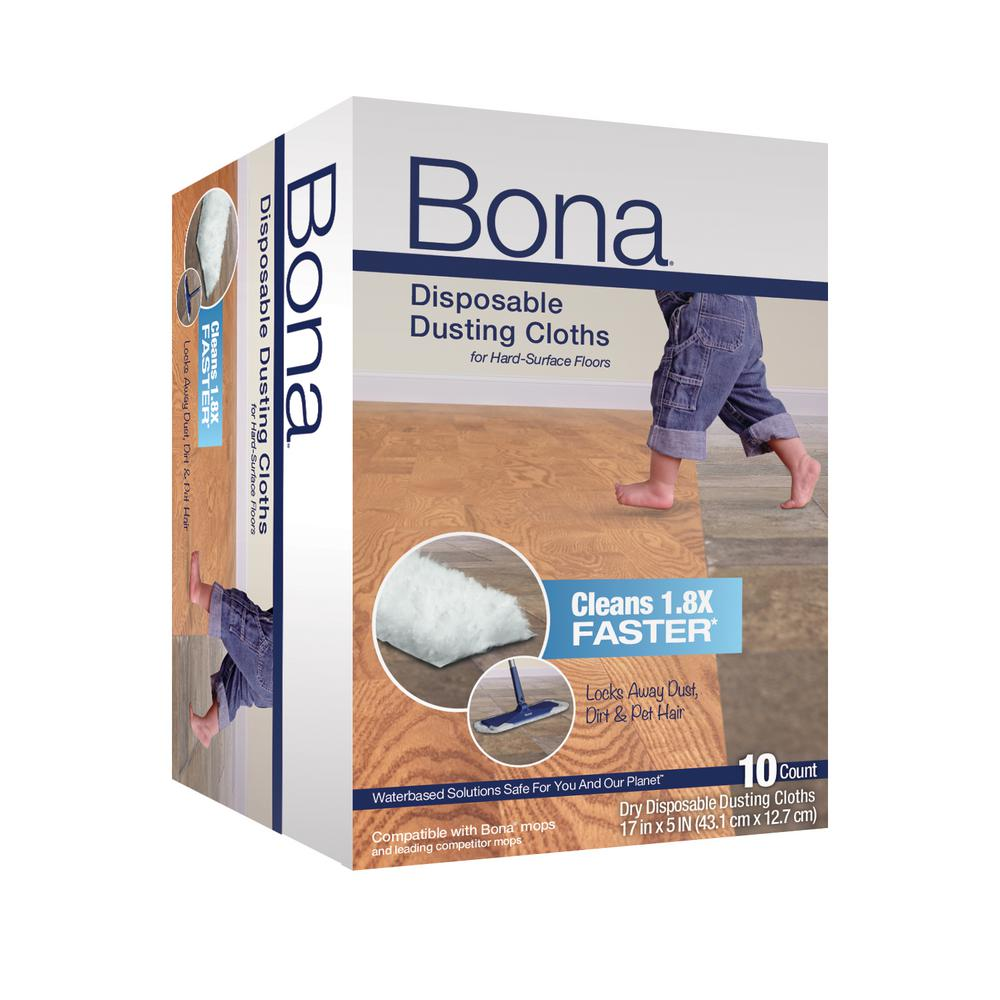 Bona Disposable Floor Dusting Cloths 10 Pack Ax0003512