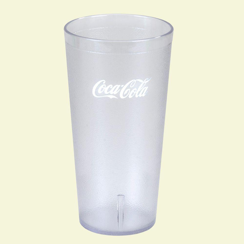 San Plastic Stackable Tumbler In Clear With Coca Cola Logo Case