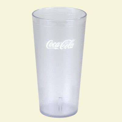 16 oz. SAN Plastic Stackable Tumbler in Clear with Coca Cola logo (Case of 72)