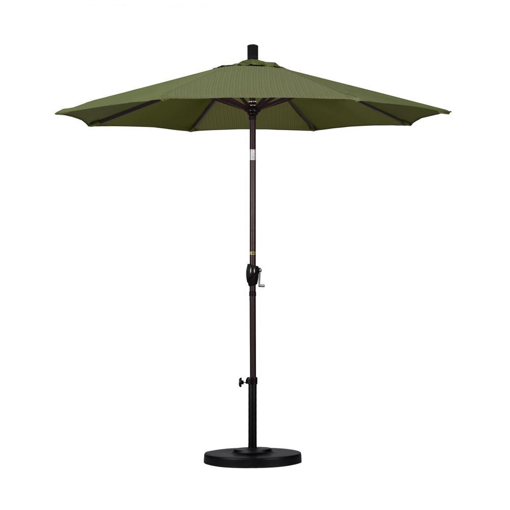 7-1/2 ft. Fiberglass Push Tilt Patio Umbrella in Terrace Fern Olefin