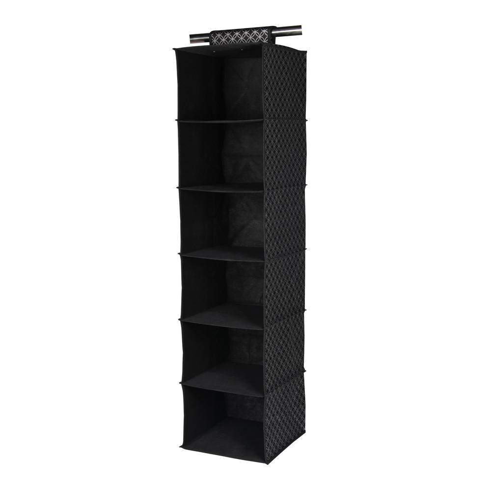47 in. x 12 in. Silver Shelf 6-Cube Blossom Closet Organizer