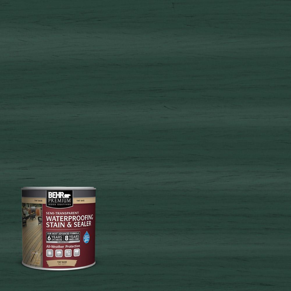 Behr Premium 8 Oz St 114 Mountain Spruce Semi Transparent Waterproofing Exterior Wood Stain