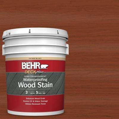 5 gal. #ST-142 Cappuccino Semi-Transparent Waterproofing Exterior Wood Stain