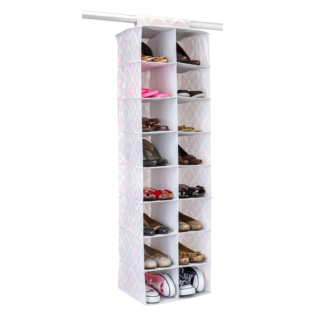 16 Pocket Shoe Organizer In Ikat