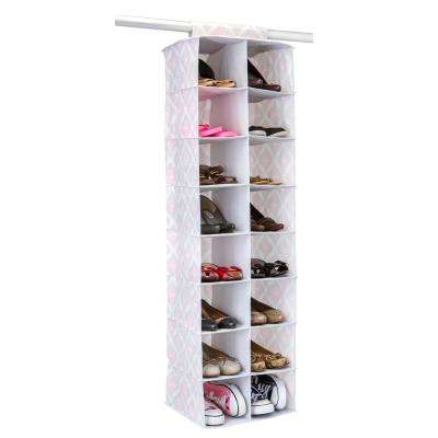 13.75 in. x 11 in. x 47.25 in. 16 Pocket Shoe Organizer in Ikat