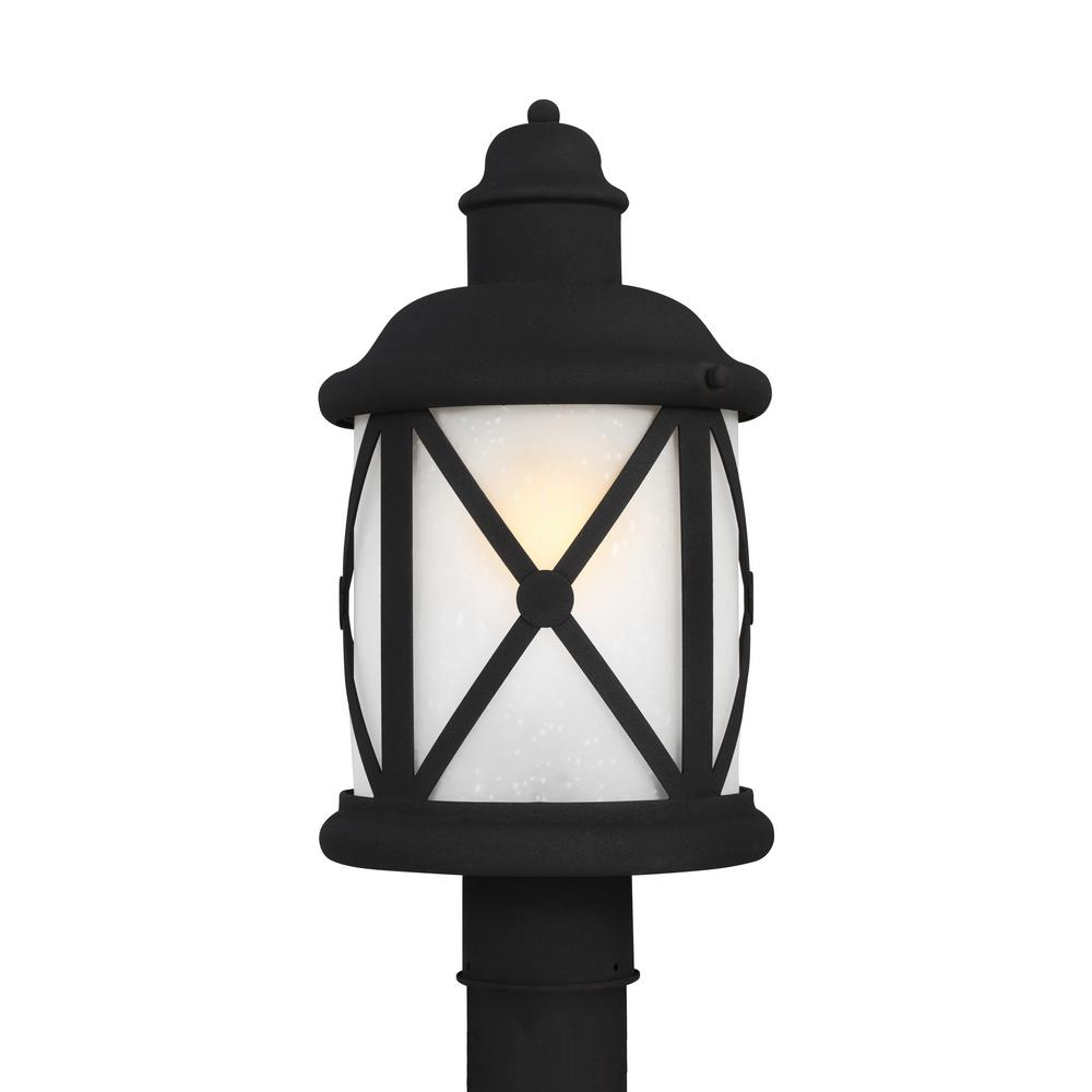 Outdoor Post Light Bulbs: Sea Gull Lighting Lakeview 1-Light Outdoor Black Post