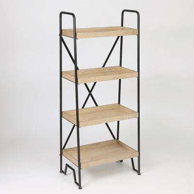 63 in. Natural Etagere Bookcase