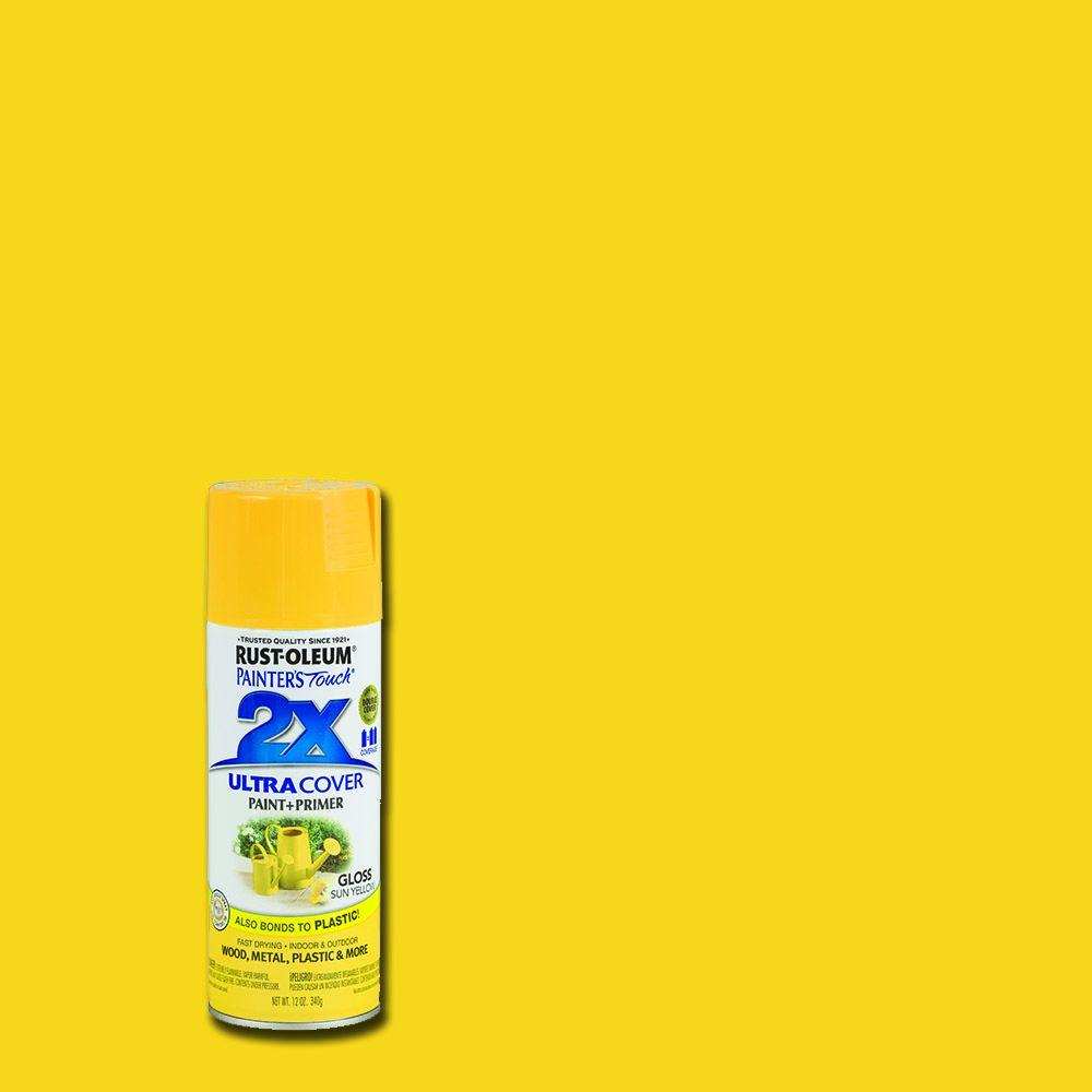 Rust-Oleum Painter's Touch 2X 12 oz. Gloss Sun Yellow General Purpose Spray Paint