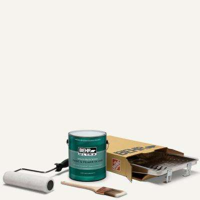 1 gal. #75 Polar Bear Ultra Semi-Gloss Enamel Interior Paint and 5-Piece Wooster Set All-in-One Project Kit