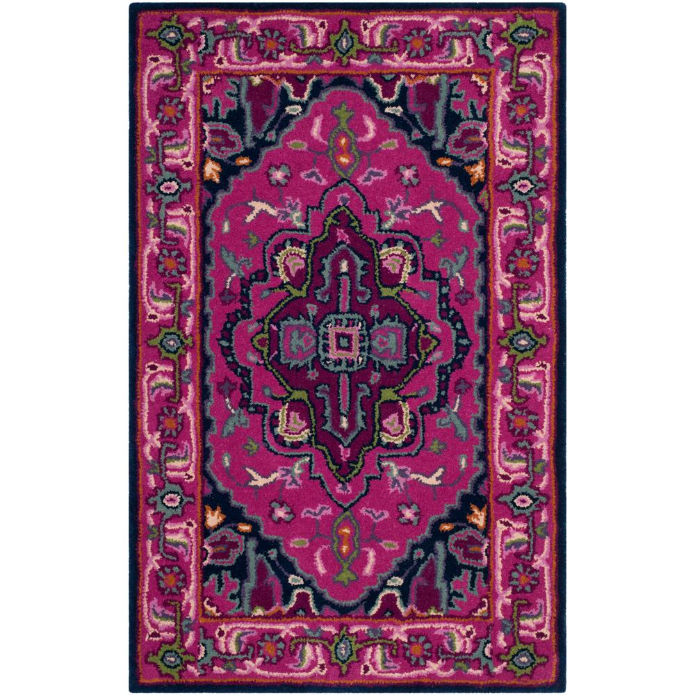 Safavieh Bellagio Pink/Navy 2 Ft. 6 In. X 4 Ft. Area Rug