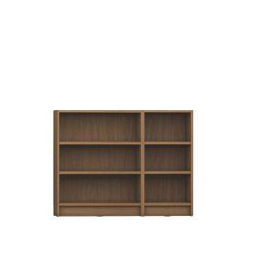 Greenwich Maple Cream 2-Piece Lower Bookcase with 6 Wide and Narrow Shelves
