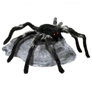 22 in. Animated Jumping Spider with Red LED Eyes