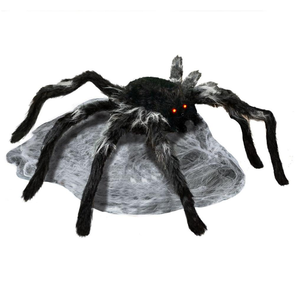 YOW 22 in. Animated Jumping Spider with Red LED Eyes