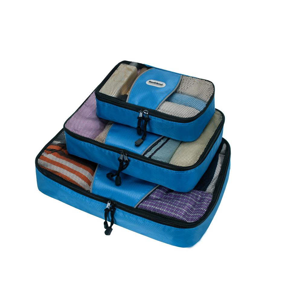 Rockland Packing Cubes (Set of 3)-U01-BLUE - The Home Depot