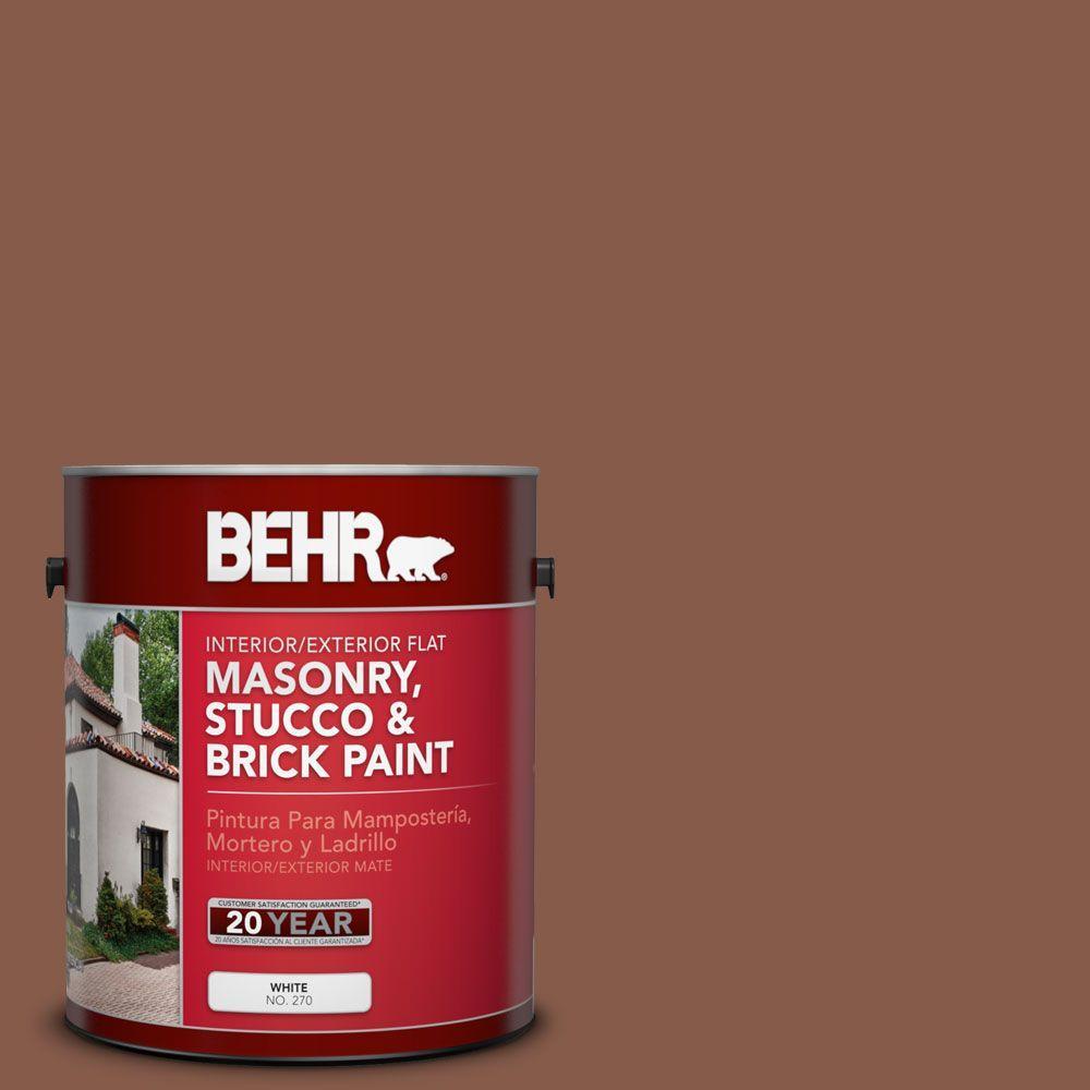 1-gal. #MS-05 Madera Flat Interior/Exterior Masonry, Stucco and Brick Paint