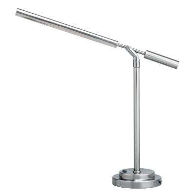 7.81 in. Matte Silver Desk Lamp