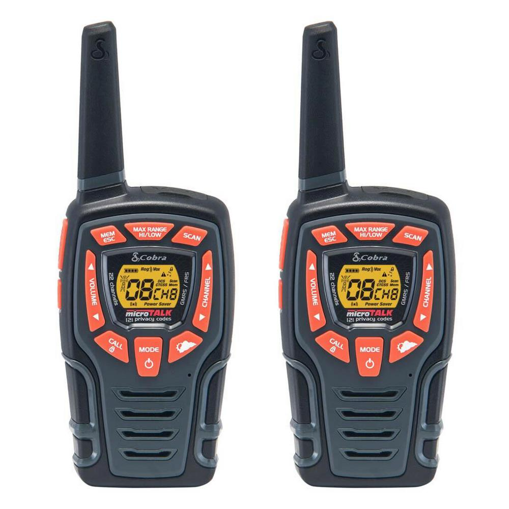 28-Mile Range Rugged 2-Way Radio Value Pack and Dock
