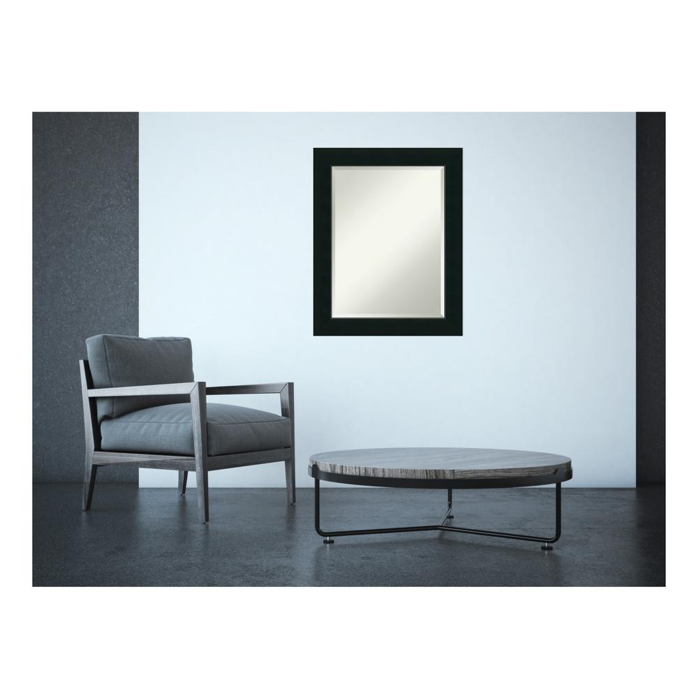 Corvino Satin Black Wood 23 in. x 29 in. Contemporary Framed
