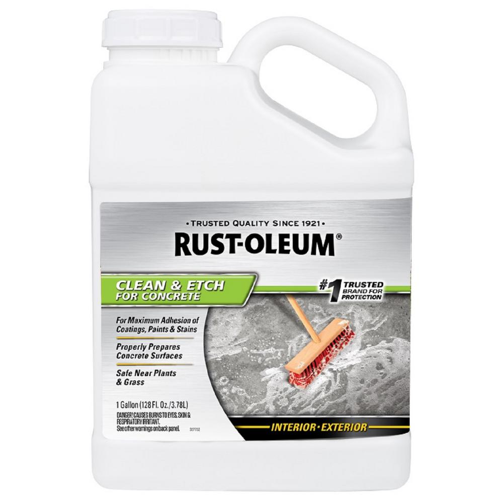 Rust Oleum 1 Gal Concrete Etch And Cleaner 301242 The Home Depot