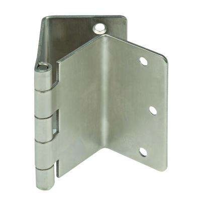 Satin Nickel Expandable Door Hinge Pair