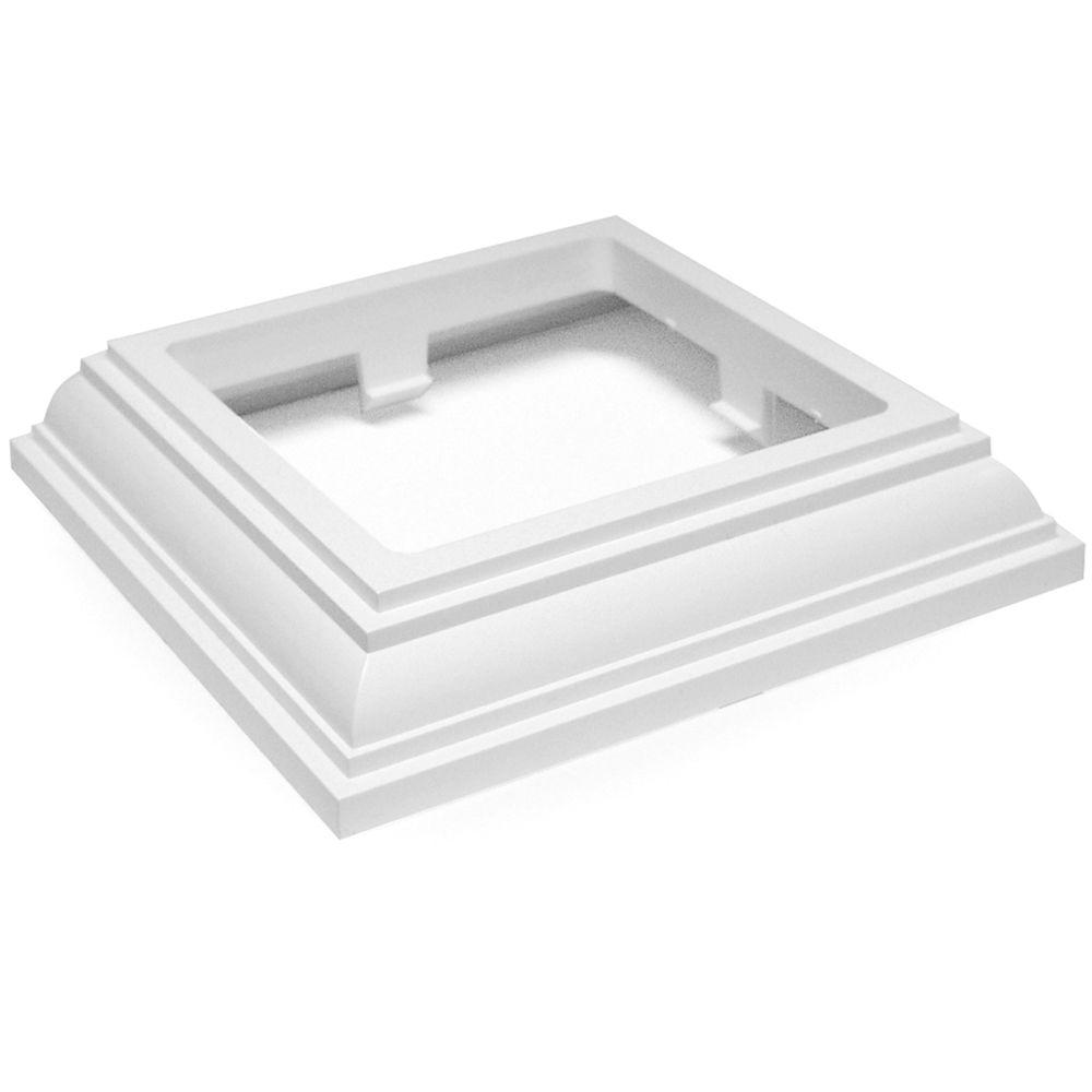 Veranda 4 in. x 4 in. Vinyl White New England Base Trim