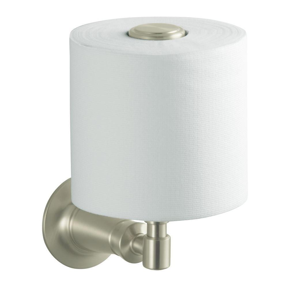 Archer Vertical Single Post Toilet Paper Holder in Vibrant Brushed Nickel