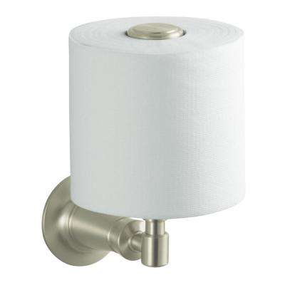 Archer Vertical Single Post Toilet Paper Holder in Vibrant Brushed Nickel