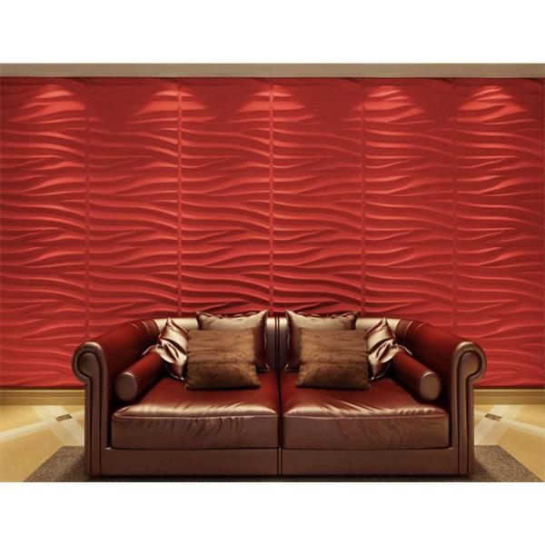 Kingsman Hardware 31.4 in. x 24.6 in. x 1 in. Off-White Plant Fiber Sands Design Glue-On Wainscot Wall Panels 32 Sq Ft. (6-Pack)