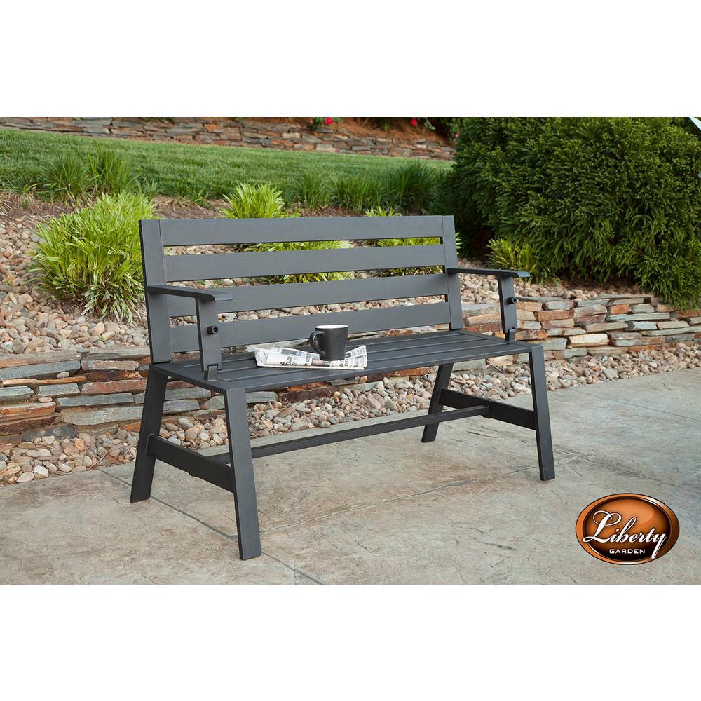 Tremendous Liberty Garden Metal Convertible Bench Uwap Interior Chair Design Uwaporg