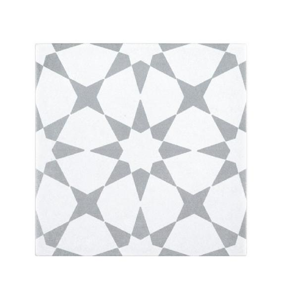 Shop Castelletto Gray 7.874 in. x 7.874 in. Matte Porcelain Floor and Wall Tile from Home Depot on Openhaus