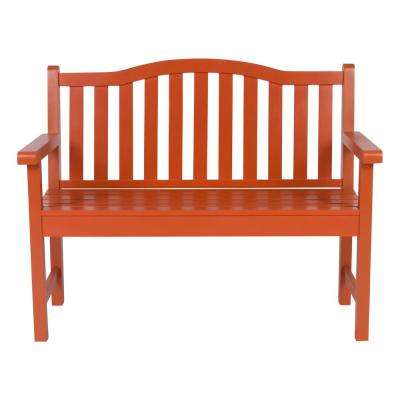 Belfort Cedar Wood Outdoor Garden Bench 43.25 in. - Rust