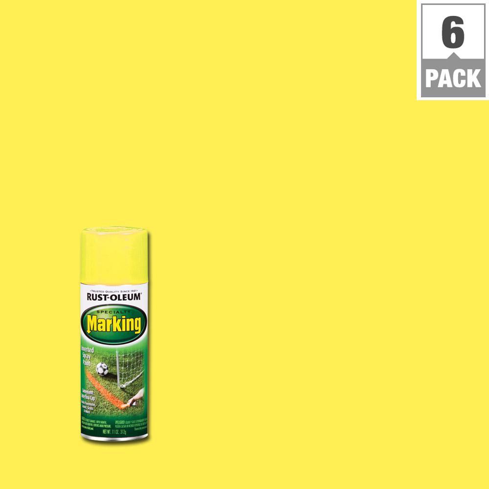 11 oz. Bright Yellow Marking Spray Paint (6-Pack)