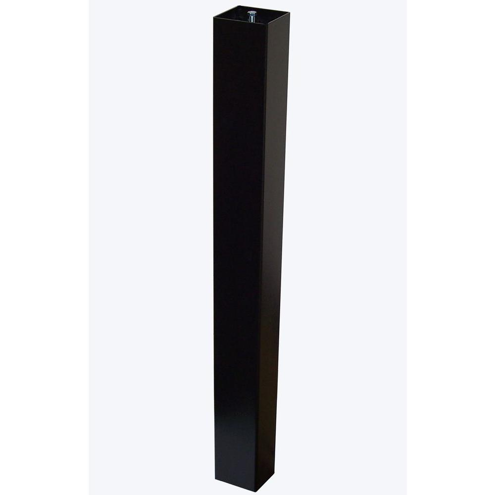 Keystone Aluminum Standard Mailbox Post in Black