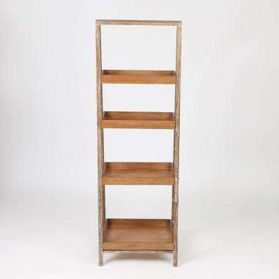 60 in. Natural Etagere Bookcase