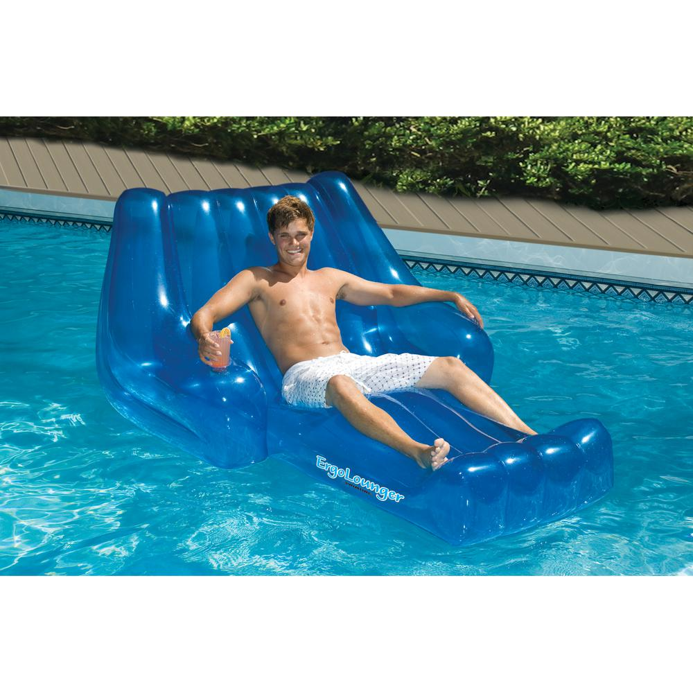 Swimline cool chaise swimming pool lounger 90491 the - Swimming pool floating lounge chairs ...
